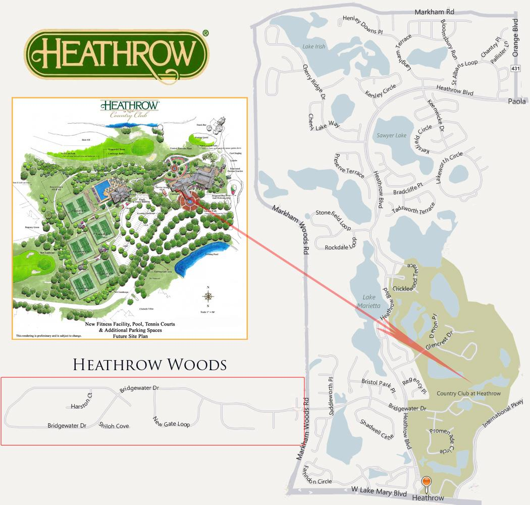 Heathrow Homes  Real Estate For Sale Lake Mary Florida - Florida map lake mary